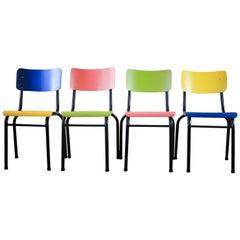 Bauhaus Tubular Steel Stacking Chairs, Refurbished