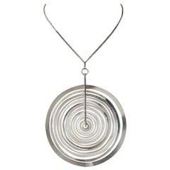 Necklace Silver Moon Designed by Tapio Wirkkala for Kultakeskus, Finland, 1972