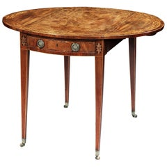 George III Oval Pembroke Table