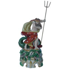 Staffordshire Pearlware Pottery Neptune Figure