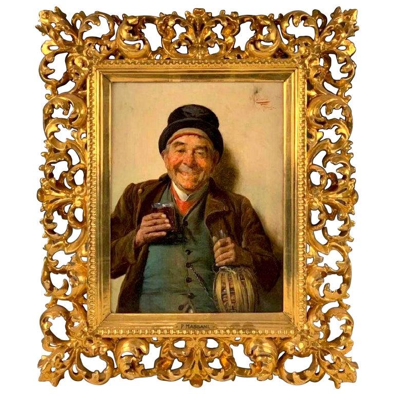 """A Good Vintage"" by Pompeo Massani For Sale"