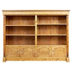 Large Art Deco Birch Scandinavian Bookcase
