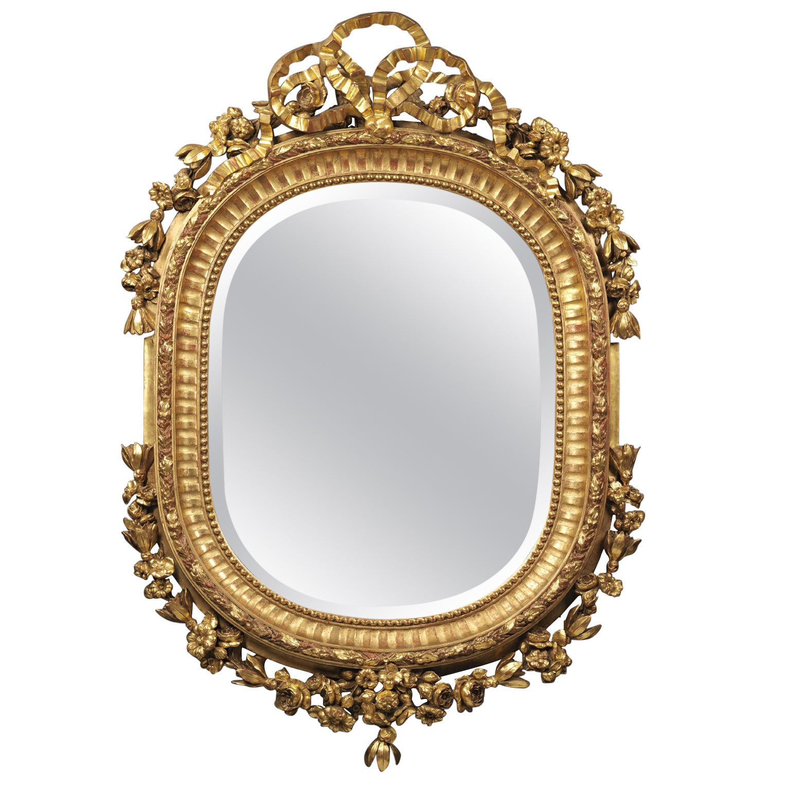 Fine Louis XV Style Carved Giltwood Mirror, circa 1880