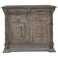 19th Century Flemish Renaissance Oak Buffet