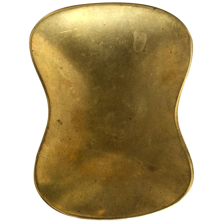 Carl Auböck Biomorphic Brass Bowl For Sale