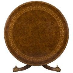 Amboyna and Satinwood Centre Table, Attributed to Holland & Sons, circa 1860