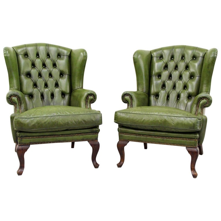 2 Chesterfield Armchair Wing Chair Antique Chair For Sale At 1stdibs