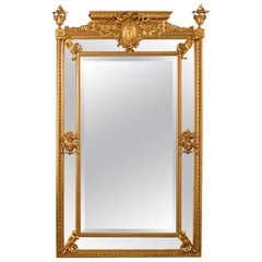 Louis XVI Style Carved Giltwood and Composition Marginal Mirror, circa 1890
