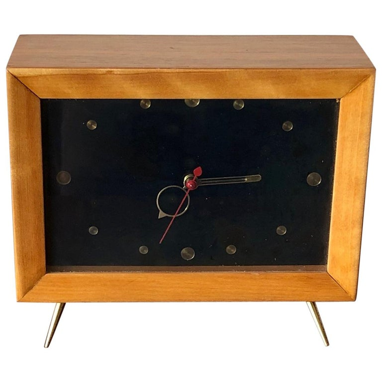 Unusual 1950s TV Clock For Sale