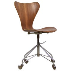 '3117' Swivel Desk Chair by Arne Jacobsen for Fritz Hansen, Denmark, 1955