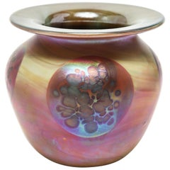 Donald Carlson American Studio Art Glass Vase
