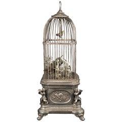 Silver Bird Cage with Music, circa 1920