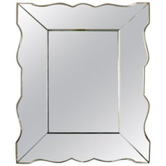 Small french art deco mirror 1940s