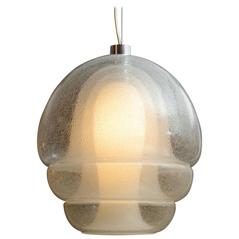 Carlo Nason Pendant in Pulegoso Glass For Sale