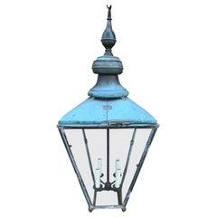 Early 20th Century English Copper Verdigris Foster & Pullen Street Lantern