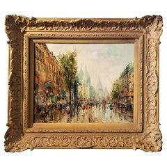 Paris Montmarte Oil on Canvas by Demone