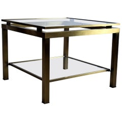 Maison Jansen Hollywood Regency Brass Side Table
