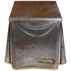 Heavily Patinated John Dickinson Galvanized Steel Occasional Table