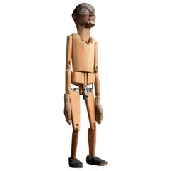 Early 20th Century German Folk-Art Hand Carved Unusual Scrotum Jig Doll