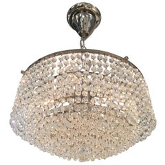 Petite Strauss Austrian Crystal Nickel Finish Waterfall Chandelier