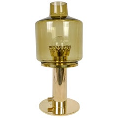 Hans-Agne Jakobsson Table Lamp Model B-102 in Brass and Glass, 1960s, Sweden