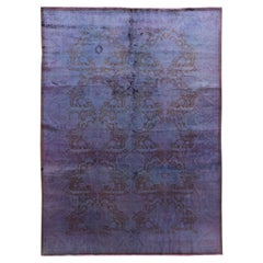 Early 20th Century Vintage Overdyed Rug