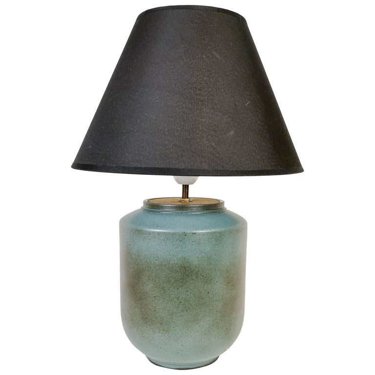 Ceramic Swedish Midcentury Table Lamp by Gunnar Nylund Rörstrand For Sale