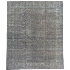 Contemporary Grey Overdyed Wool Room-Size Rug