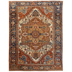 1900s Antique Serapi Carpet