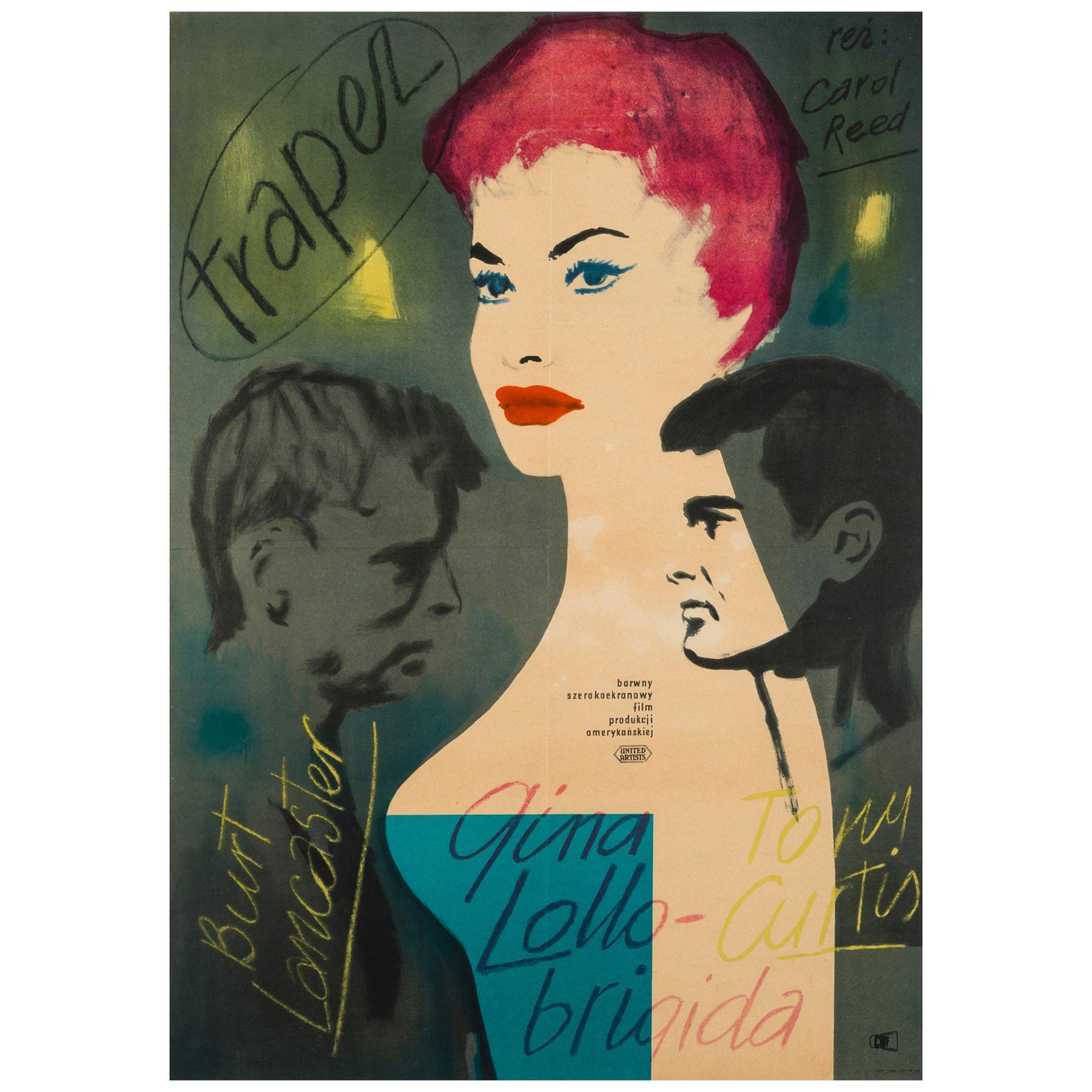 Trapeze Original Polish Film Poster, 1956