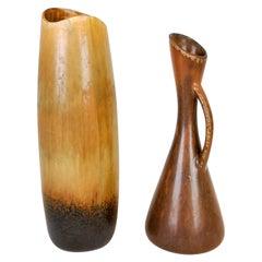 Set of 2 Ceramic Vases Gunnar Nylund Rörstrand, Sweden, 1950s