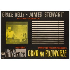 Rear Window Original Polish Film Poster, Witold Janowski, 1958