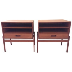 Pair of Arne Vodder Teak Petite Nightstands or End Tables