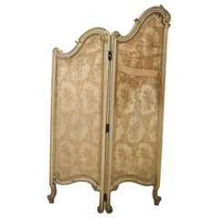 20th Century Italian Baroque Style Lacquered and Gilded Wood Screen