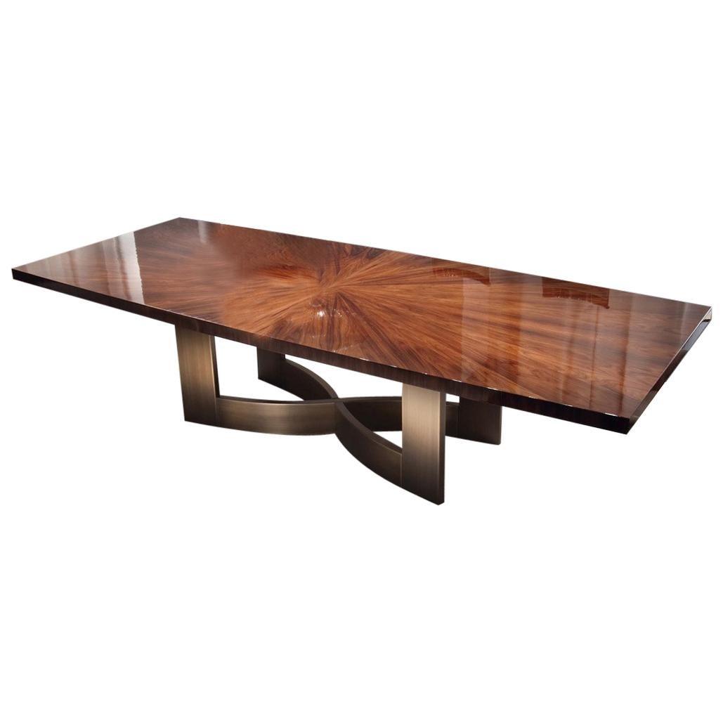 Giorgio Collection Rectangular Table in Brazilian Rosewood High Gloss Finish