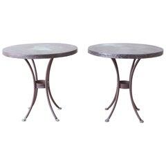 Pair of O.W. Lee Bistro Style Copper Dining Tables