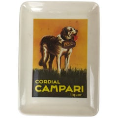 1970s Italian Advertising Cordinal Campari Liquor Little Plastic Tray