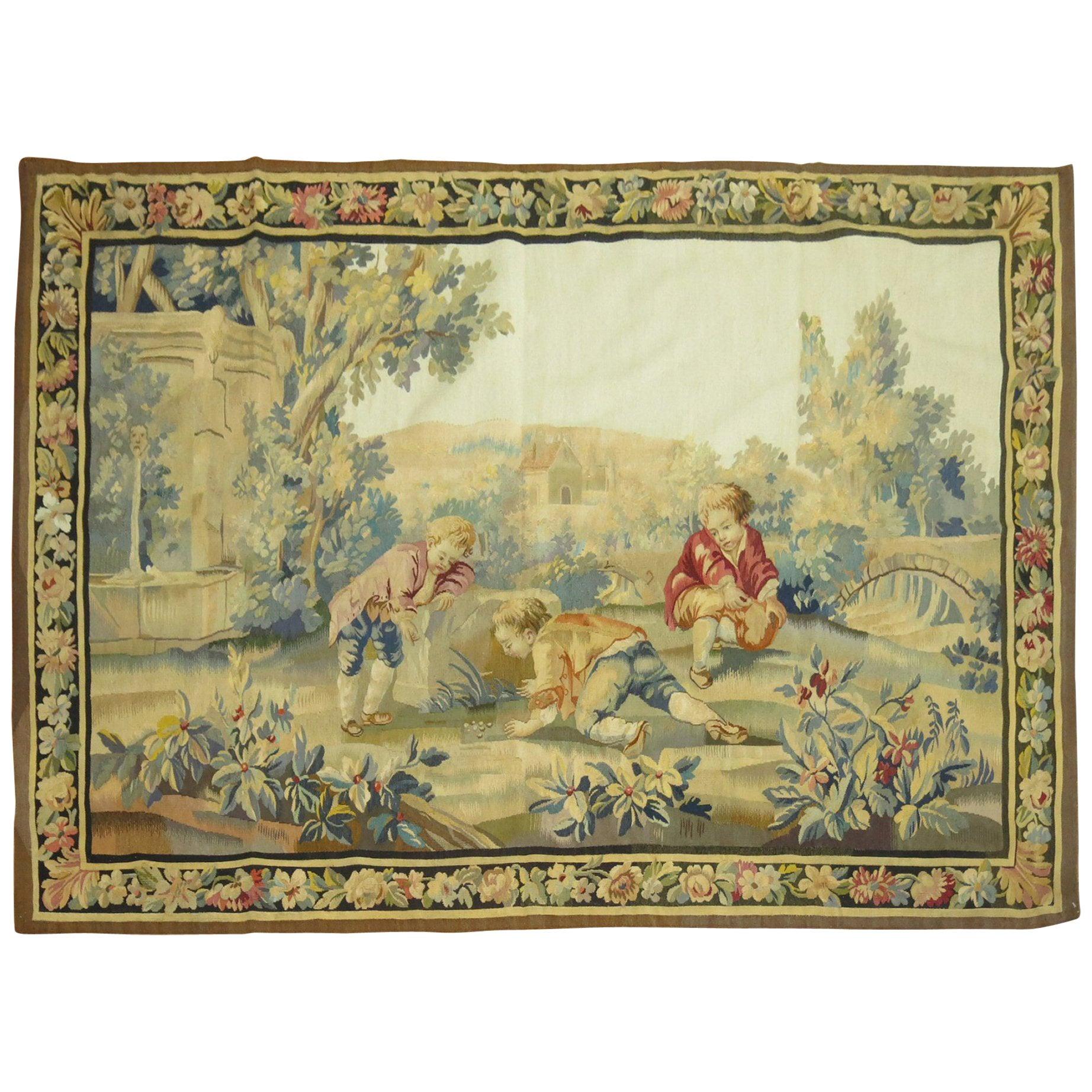 20th Century European Horizontal Tapestry