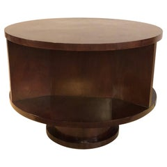 Ralph Lauren Round Mahogany Coffee or End Table