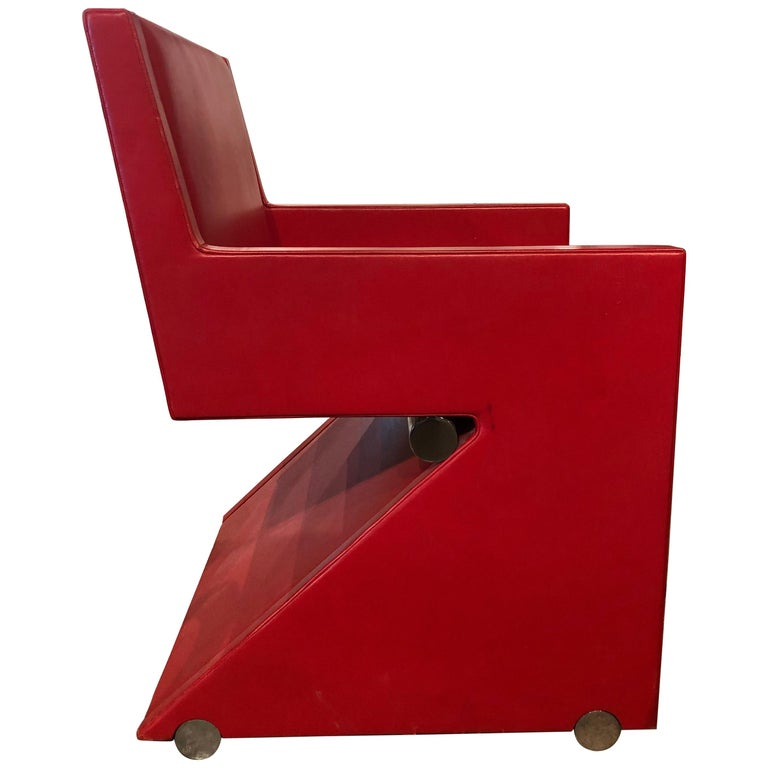 Modern Leather Desk Chair For Sale