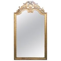 Large 19th Century French Louis XVI Giltwood Mirror
