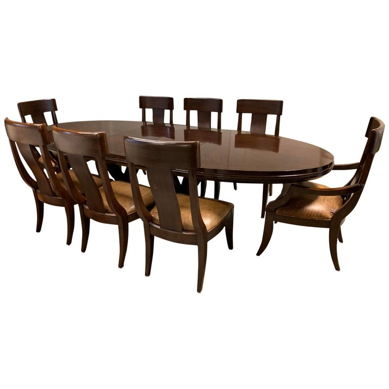 Bernhardt Furniture Table And Eight Chairs For