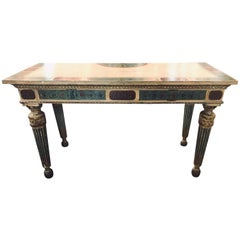 Early 19th Century Italian Neoclassical Painted Console