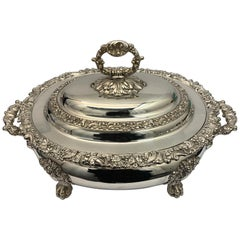 Early Victorian Old Sheffield Plate Soup Tureen