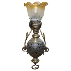 Large Colonial Style Hurricane Wall Lamp