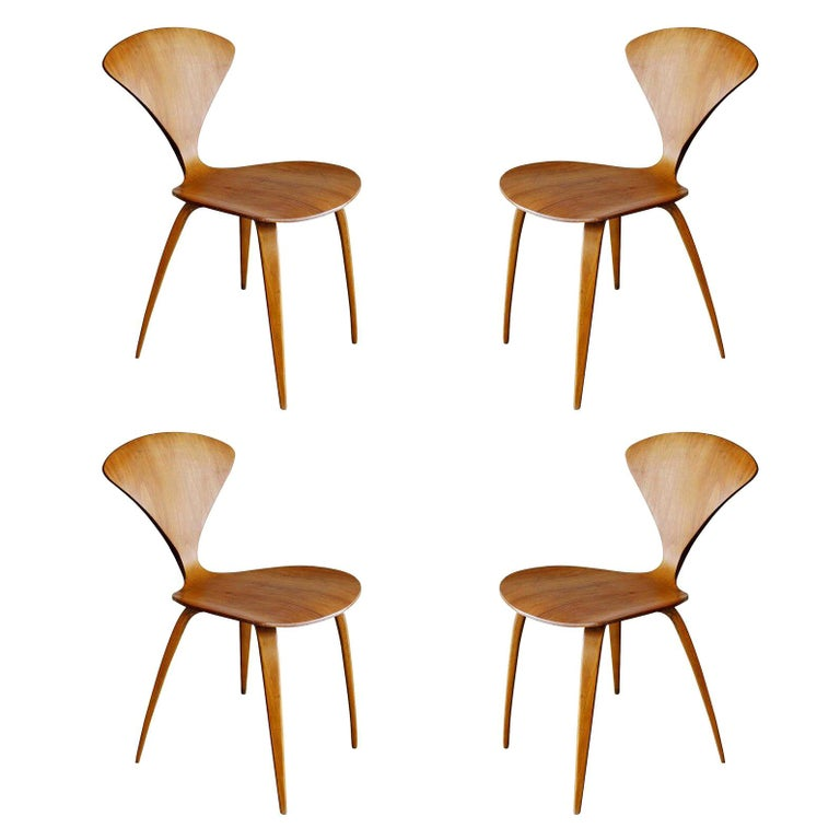 Plycraft Sculptural Dining Chairs by Norman Cherner, Set of Four For Sale