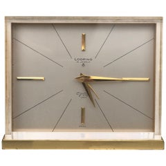 Looping Desk Clock Made in Switzerland 15 Jewels