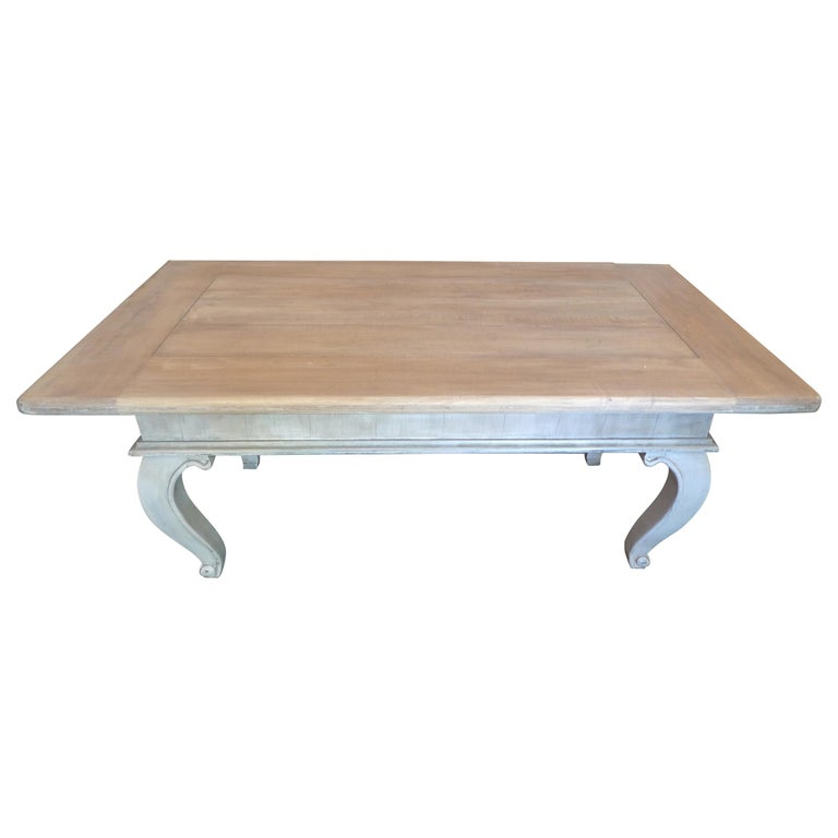 French Louis XVI Style Contemporary Pinewood Coffee Table