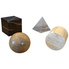 Italian Metafora Marble & Onyx Coffee Table Base by Lella and Massimo Vignelli