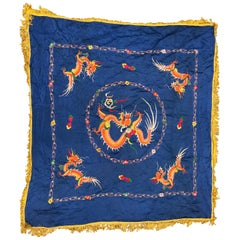 Beautiful vintage Asian dragon embroidery
